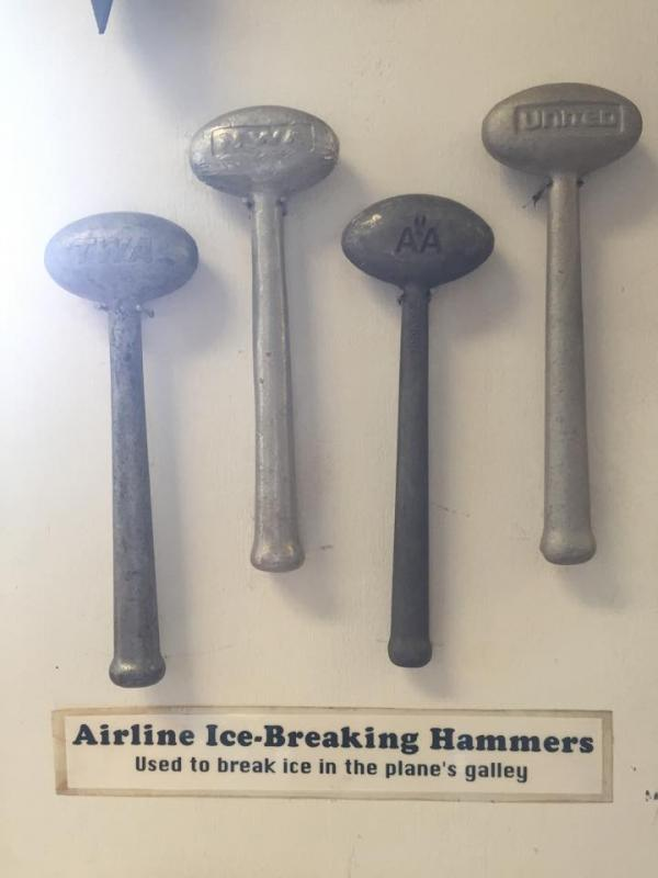 Our collection of airline ice hammers